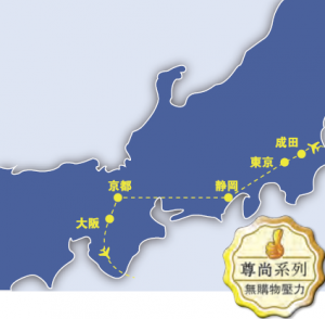 6 days japan kanto kansai deluxe tour_map