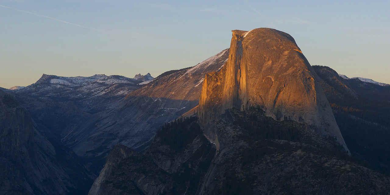 Yosemite Half Dome from Glacier Point