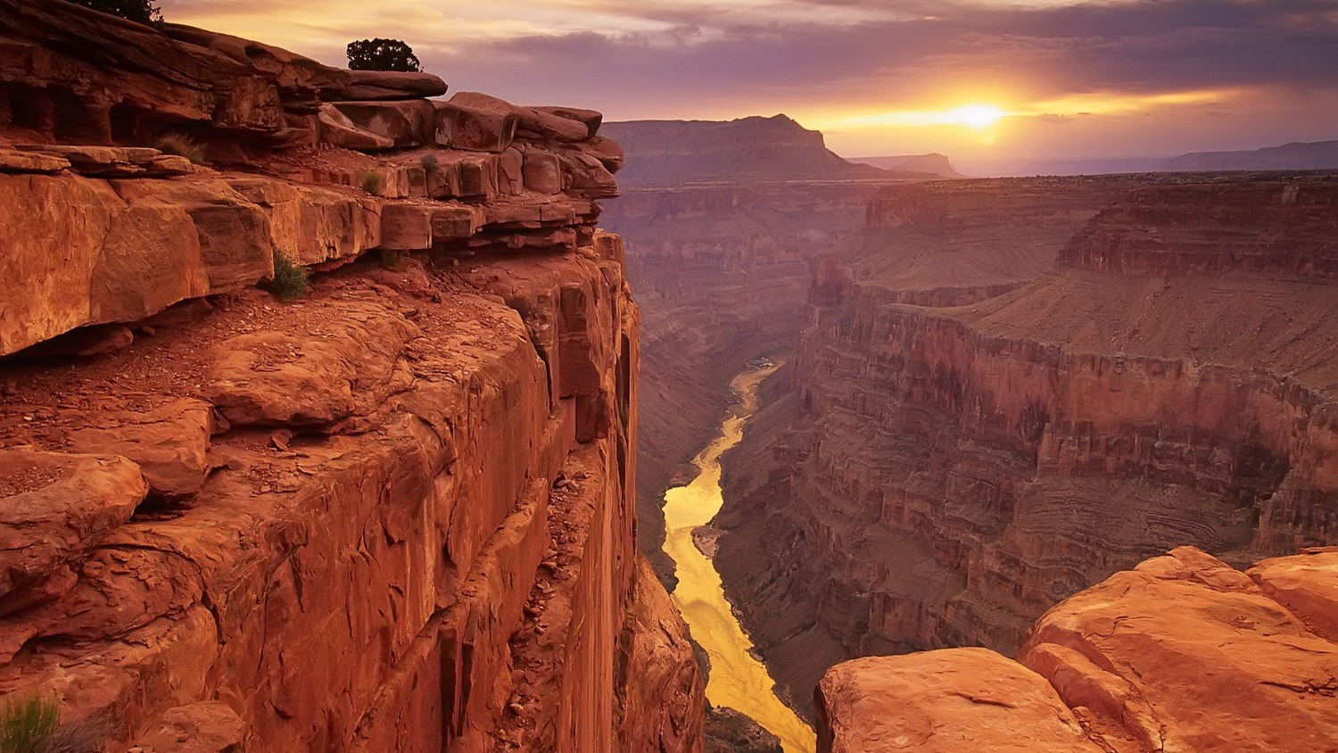 grand canyon west_sunset