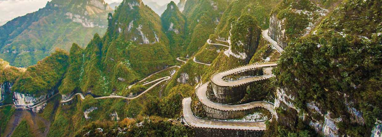 china-hunan-tianmenshan-road