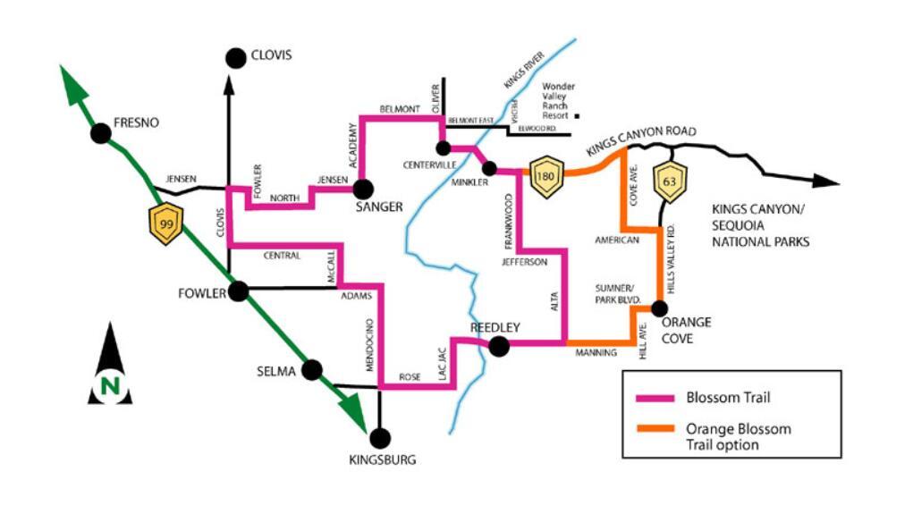 fresno county blossom trail_map