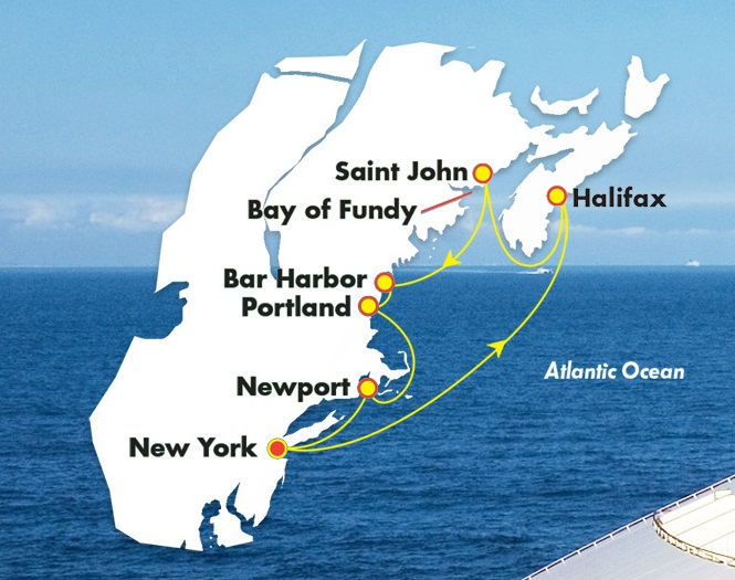 Norwegian New York to New England 8Days_map