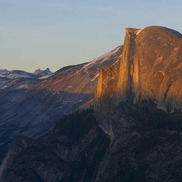 Yosemite Half Dome from Glacier Point
